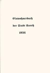 16 M.K.Sauer - Einwohnerbuch der Stadt Kanth 1936 Niemcy - 2007