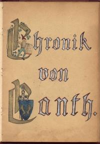 2 Autor nieznany - Chronik von Canth rękopis XIX/ XX w.