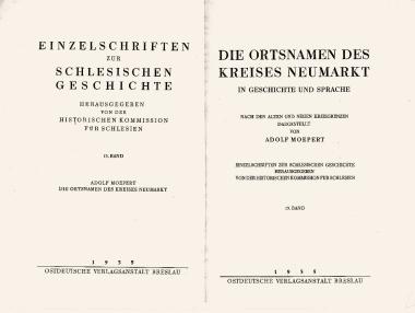 4 A. Moepert - Die Ortsnamen des Kreises Neumarkt Breslau - 1935